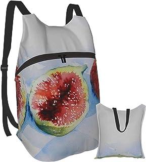 Mochila portátil plegable para adultos, mochila para computadora, comida de frutas, color negro oscuro, marrón, antirobo, delgada, duradera, para portátiles