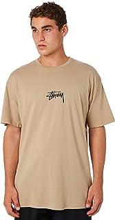 Stussy Men's Stock Mens Tee Crew Neck Short Sleeve Cotton White