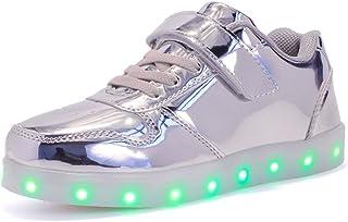 Aizeroth-UK LED Zapatos Verano Ligero Transpirable Bajo 7 Colores USB Carga Luminosas Flash Deporte de Zapatillas con Luce...