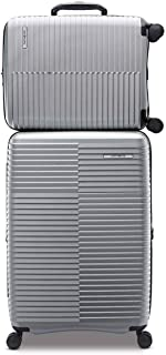 Samsonite Stack-IT 2 Piece Hardside Suitcase/Luggage Set Wheel Spinner Silver