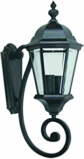 Yosemite Home Decor 5124IBL Brielle 9-Inch Two-Light Exterior Sconce, Black