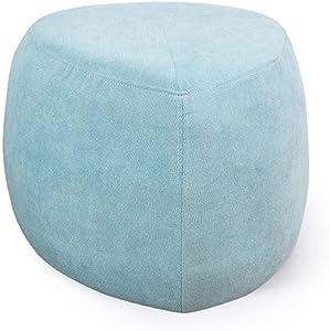JUDZ Footstools and pouffes Grey Retro Home Accessories Fleece Velvet Mini Footstool Multi-Function Living Room Footstool/Cushion for Living Room Bedroom