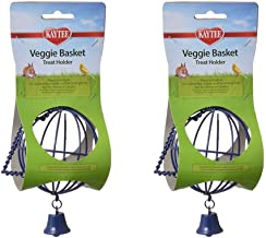 Kaytee Veggie Basket, 2 Pack, Treat Feeder for Rabbits and Other Small Pets