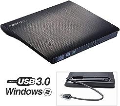 ROOFULL External DVD Drive USB 3.0, Portable CD DVD +/-RW Optical Drive Burner Writer for Windows 10/8 / 7 Laptop Desktop Mac MacBook Pro Air iMac HP Dell LG Asus Acer Lenovo Thinkpad, Black