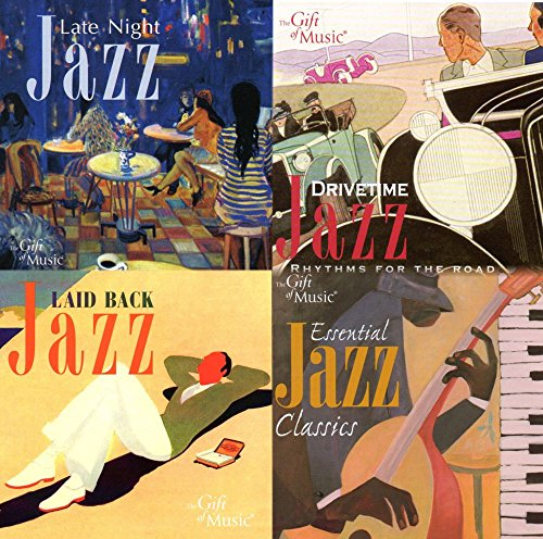 Father s Day Gift – GIFT FOR JAZZ LOVERS - SET OF 4 JAZZ MUSIC CD S LAID BACK, LATE NIGHT, ESSENTIAL JAZZ AND DRIVE TIME JAZZ - FREE CD WITH ORDER {jg} Great for mom, dad, sister, brother, grandparents, aunt, uncle, cousin, grandchildren, grandma, grandpa, wife, husband, relatives and friend.