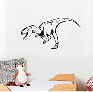 Stickers muraux art design stickers muraux pour la décoration de la maison bouche ouverte parc animalier de dinosaures enf...
