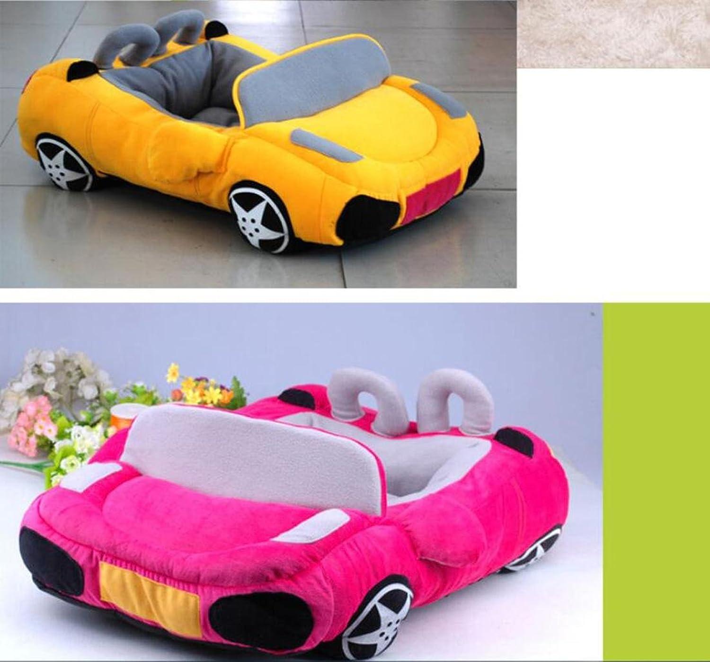 BEDS LDD car pet handsome car pet personality cat nest congreenible car, pink