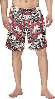 Men Swim Trunks Quick Dry Crazy Punk Rock Pockets Beach Board Shorts