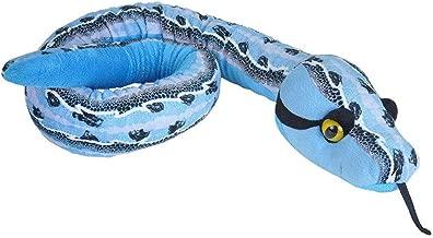 """لعبة قطيفة على شكل ثعبان من وايدل ريبابليك، حيوان محشو، لعبة قطيفة، هدايا للأطفال, Slipstream Blue, 54"""""""