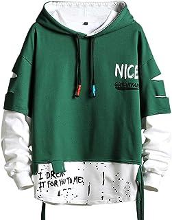 Fashion Trends - Felpa con cappuccio da uomo, stile Hip Hop, taglia S, colore: Nero