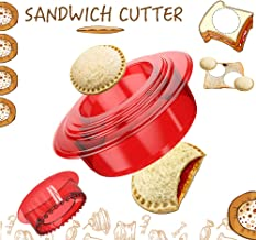 Tribe Glare Sandwich Cutter and Sealer - Uncrustables Maker - Sandwich Cutter for Kids - Sandwich Sealer and Decruster for...