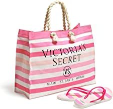 Victoria's Secret Tote Bag and Flip Flop Set Size Medium