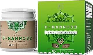 D Manosa en Polvo 100% Puro - Para la salud del Sistema Urinario | Tratamiento Cistitis, Infección urinaria, y ITU | Apoyo al Sistema inmune (SIN ADITIVOS) - Detox de arándano Mejorado (50g)