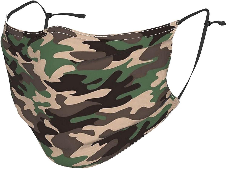 Camo Face Mask Balaclavas, Washable & Reusable & Breathable Bandana with 2 Filters, for Men & Women