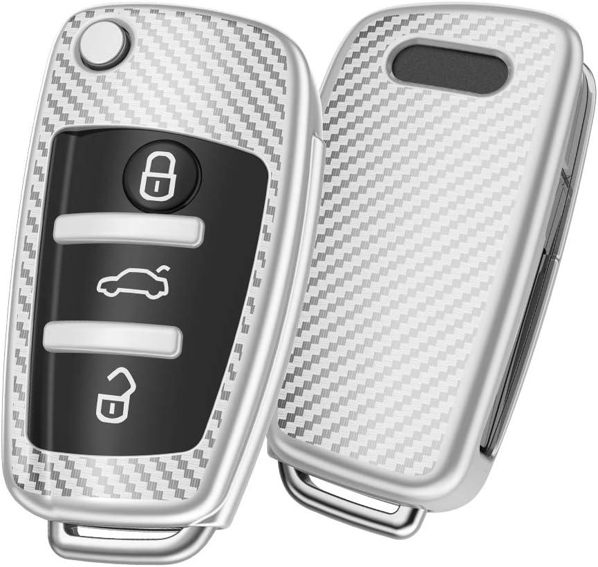 ELOHEI for Audi Key Fob Cover Case 360 Premium Stripes Soft Max 87% OFF Ranking TOP12 TPU