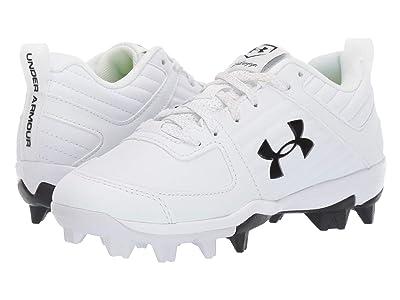 Under Armour Kids Leadoff Low RM Baseball (Toddler/Little Kid/Big Kid) (White/Metallic Silver/Black) Kids Shoes