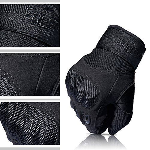 [Sport Handschuhe] FREETOO Motorrad Handschuhe Herren Vollfinger Army Gloves Ideal für Airsoft, Militär,Paintball,Airsoft, lebenslange Garantie - 4
