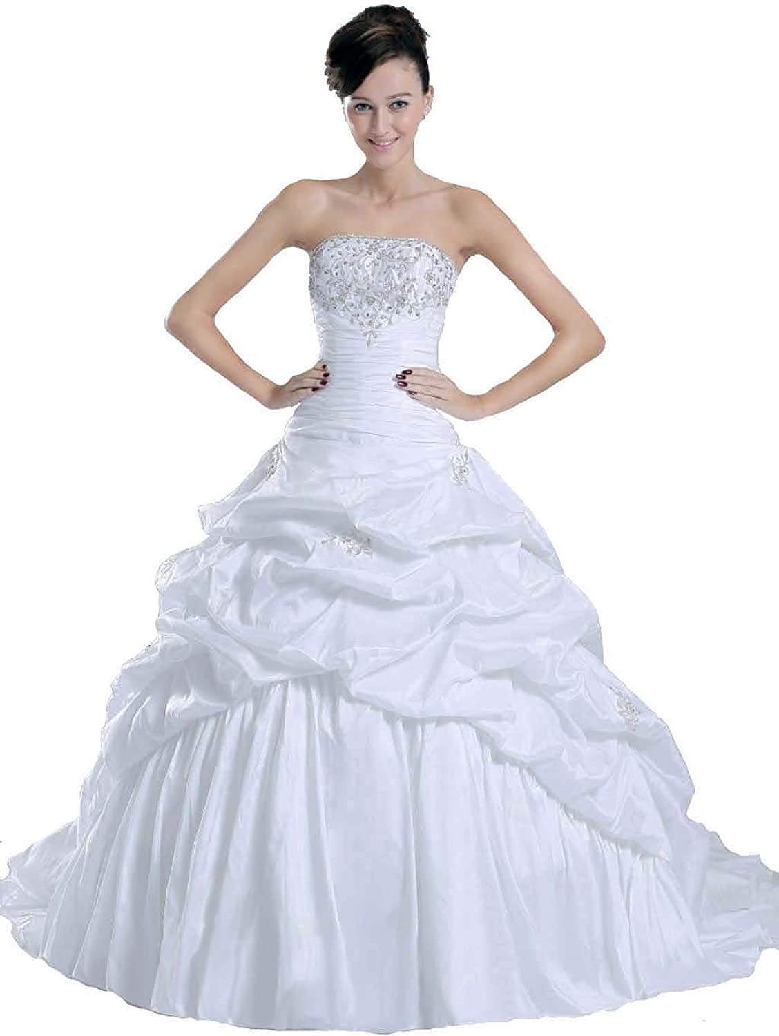 Faironly New Ivory Bride Wedding Dress , Size XL