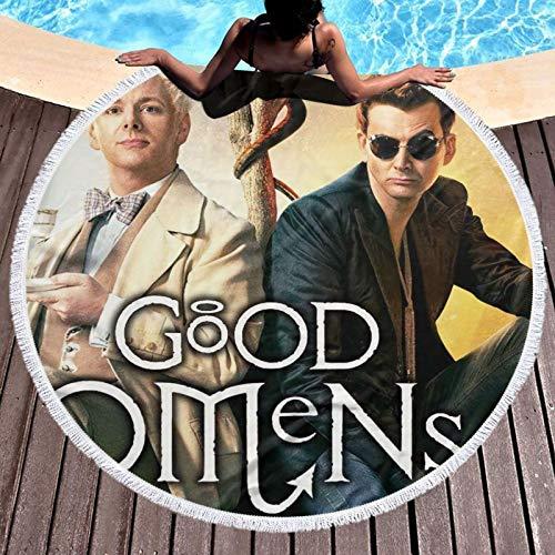 Go_od Om_ens - Toalla súper absorbente para hombre, mujer, adolescente, toalla de baño, multiusos, para yoga, baño, hotel, gimnasio, spa, redonda, 132 cm