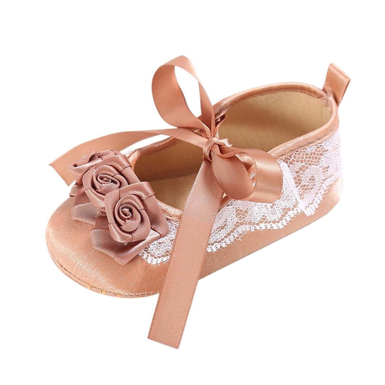 Kukiwa学步靴 レース幼児靴 ソフト花 柔らかい幼児靴 ベビー靴  赤ちゃん靴 滑め防ぐ靴 室内履き  ホームシューズ  履き脱ぎやすい プレゼント 出産の祝い