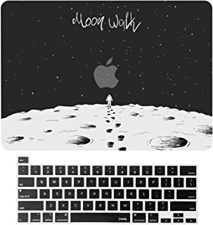 jvomk MacBook Pro 16 inch Case 2019 Release A2141 with Touch Bar & Touch ID, Plastic Hard Shell Case & Keyboard Cover Apple Laptop case Compatible with MacBook Pro 16 Black (Moon Walk)