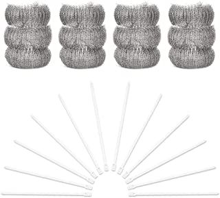 Layers 12 Pack of Stainless Steel Washing Machine Lint Traps,Snare Laundry Mesh Washer Hose Filter with 12 Pieces