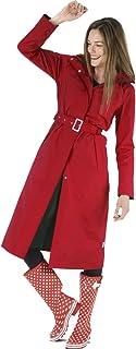 Sponsored Ad - Happy Rainy Days Women's Long Jacket, Red, X Large