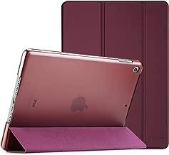 ProCase Coque iPad 10.2 Pouces 7ème Génération 2019 A2197/A2198/A2200, Smart Cover Case Housse Étui de Protection avec Support Fonction et Veille/Réveil Automatique-Lie de vin