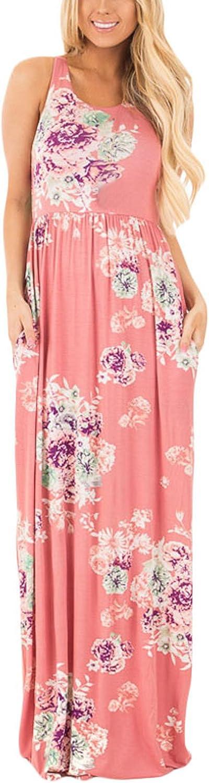 Octohol Women's Wrap Maternity Dress Short Sleeve Casual Long Maxi Dress