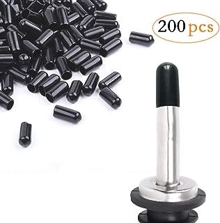200Pcs liquor spout covers,Pourers Spouts Covers Dust Rubber Caps for Olive Oil Liquor Bottles (Black)