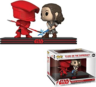 Funko Clash on The Supremacy: Star Wars - The Last Jedi x POP! Movie Moments Vinyl Figure + 1 Official Star Wars Trading Card Bundle [#264 / 32557]