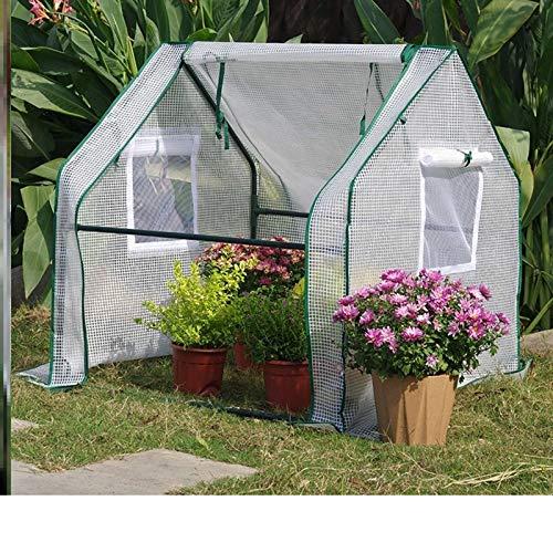 MAHFEI Invernadero Pequeño, Invernadero De Túnel Mini Invernaderos Terraza Cubierta Vegetal De PE Sistema Enchufable Fácil De Instalar para Balcón Cultivar Invernadero