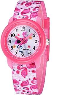 Kinderhorloge cartoon horloge waterdicht lint quartz horloge (roze)