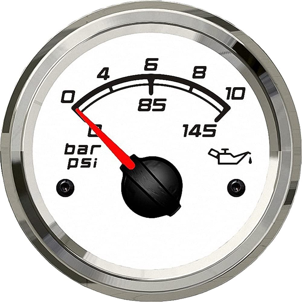 Boston Mall MQEIANG Special sale item Kus Marine Oil Pressure Gauge Engine Truck Outb Car Boat