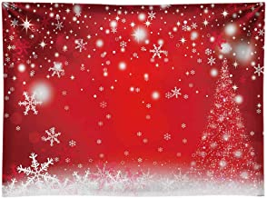 white snowflake red background