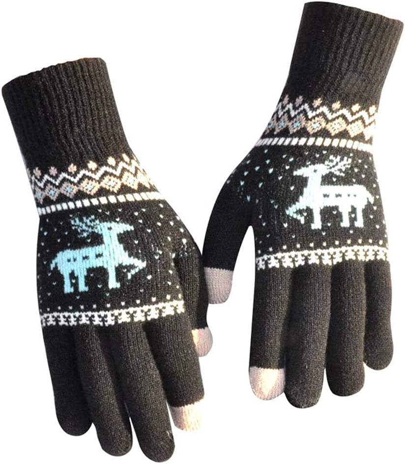 Ranking TOP18 Lnrueg store Christmas Gloves Warm Thickened Deer Winter Glov Colorful
