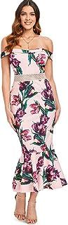 Off Shoulder High Waist Fold Over Dress