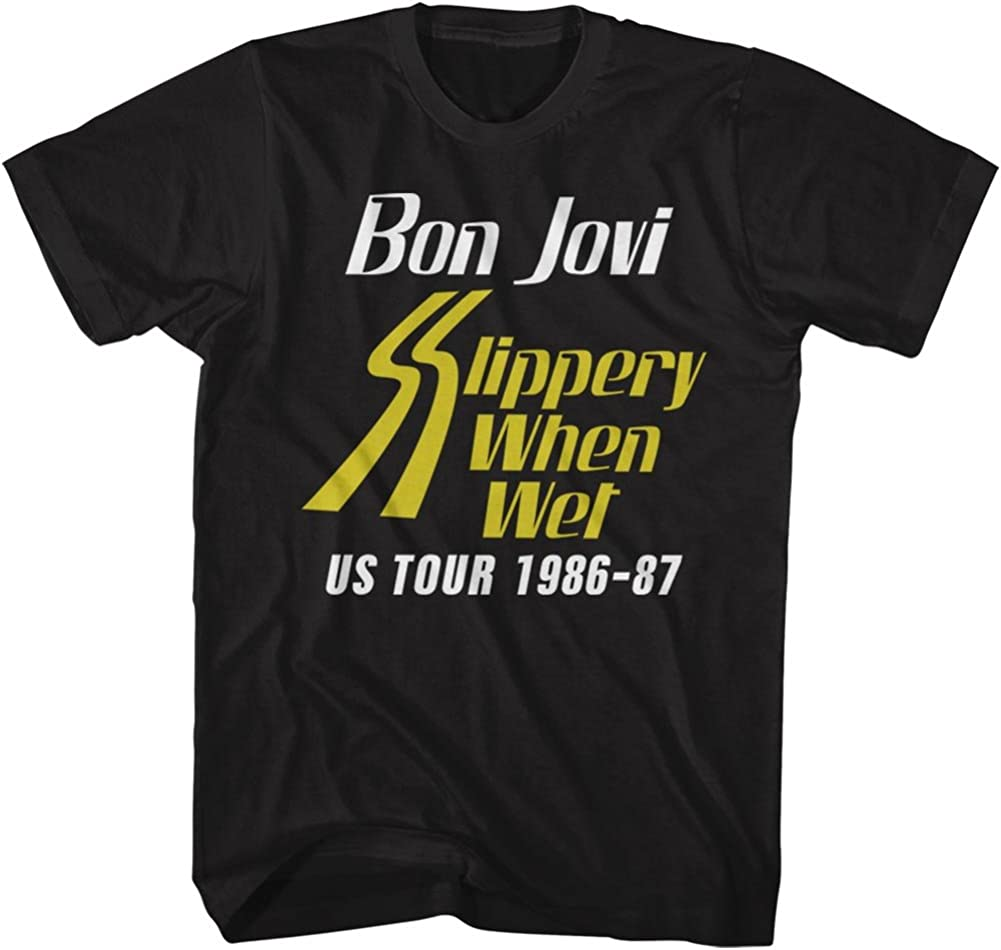 Bon Jovi Rock Band Ssw Tour 2-Sided Tee Black T-Shirt Popular shop Cheap mail order shopping is the lowest price challenge Adult
