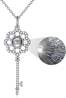 Portachiavi in argento Sterling, 100 lingue di I Love You for Women