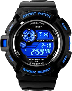 Timsty Electronic Sports Watch with LED Backlight,Water...