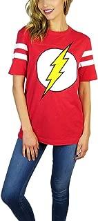 DC Comics Womens Flash Varsity Football Tee