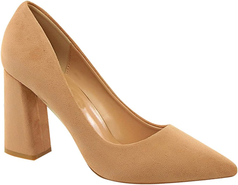 Genepeg kvinnor Sandaler Sandaler Sandaler mocka Solid Färgs Pump Slip On High klackar Chunky Heel skor Khaki  presentera alla senaste high street mode