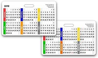2019 Monthly Calendar Badge Card Horizontal (Pack of 5)