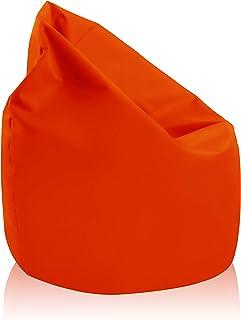 alibey - Pouf géant en forme de poire intérieur/extérieur pour enfants, loisir, école, Orange.