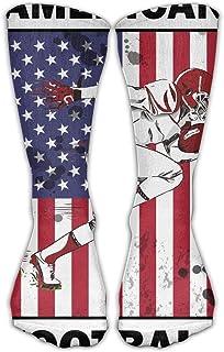 Bigtige, Calcetines de compresión clásicos Rugby Fútbol americano Deporte personalizado Calcetines deportivos de 50cm de largo para hombres Mujeres