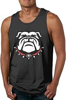 Georgia Bulldogs Black Mens Training Tank Top for Gym Regular-fit Sleeveless Jersey Tank