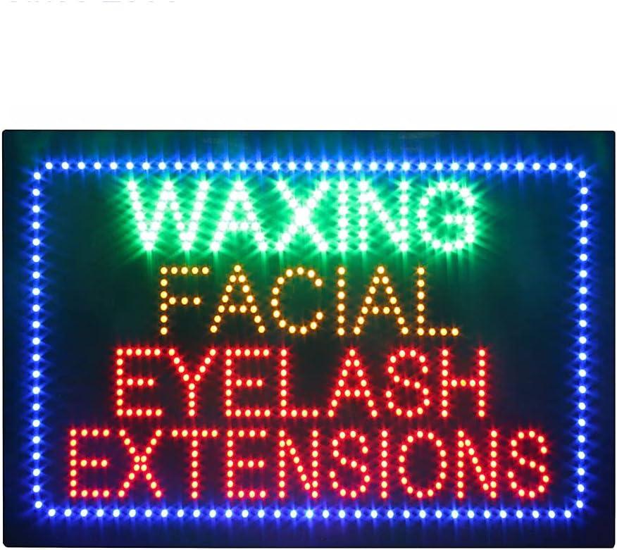 Waxing Facial Eyelashes Sign 在庫一掃売り切りセール Electric Bright Super 出色 Advertising