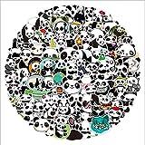 SHUYE New Cute PandaGraffiti Waterproof Skateboard Travel Suitcase Phone Laptop Luggage Stickers Cute Kids100Pcs/Set