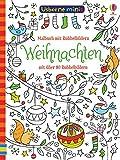 Usborne Minis: Weihnachten: Malbuch mit Rubbelbildern