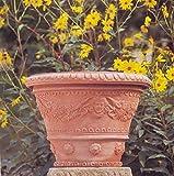 Impruneta Terracotta, Vaso Ornato c. angeli, Blumetopf, Pflanzgefäß, Engel, Topf